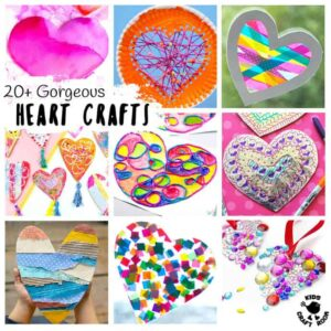 20+ Totally Gorgeous Heart Crafts For Kids