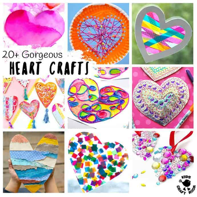 20 Totally Gorgeous Heart Crafts For Kids Kids Craft Room