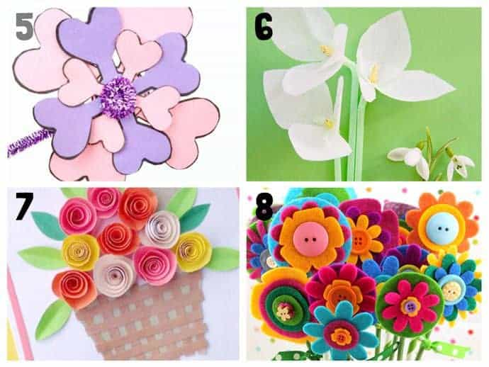 Pretty flower crafts for kids 5-8