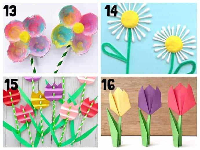 Pretty flower crafts for kids 13-16