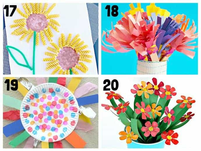 Pretty flower crafts for kids 17-20