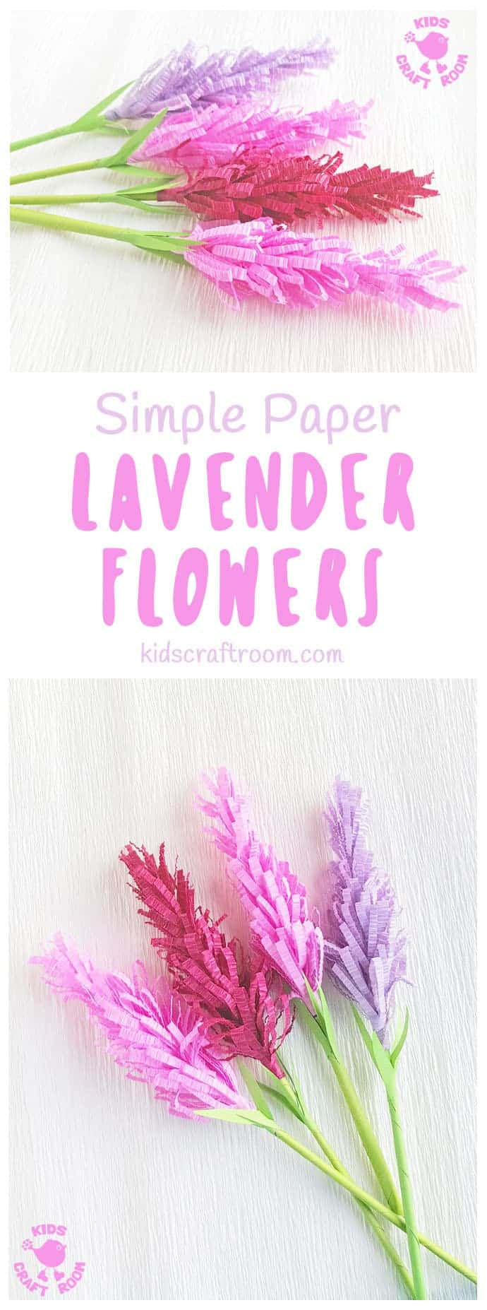 Have you tried making paper flowers? These gorgeous Lavender Flowers look so realistic and are
