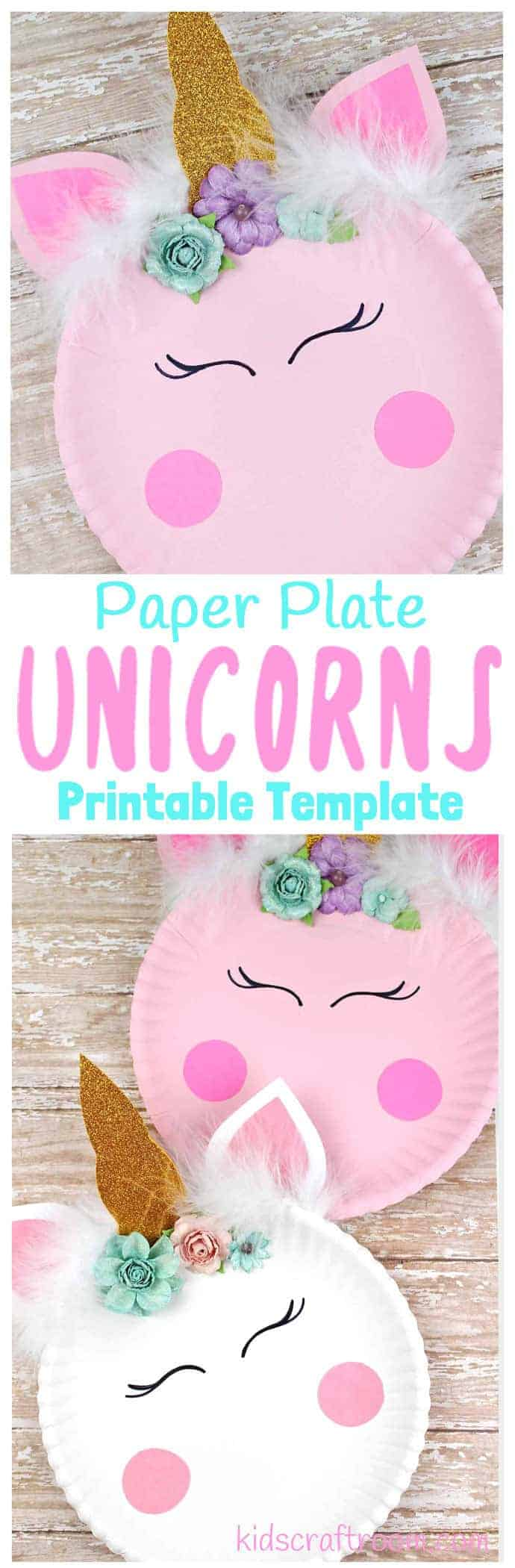 Simple Paper Plate Unicorn Craft Kids Craft Room