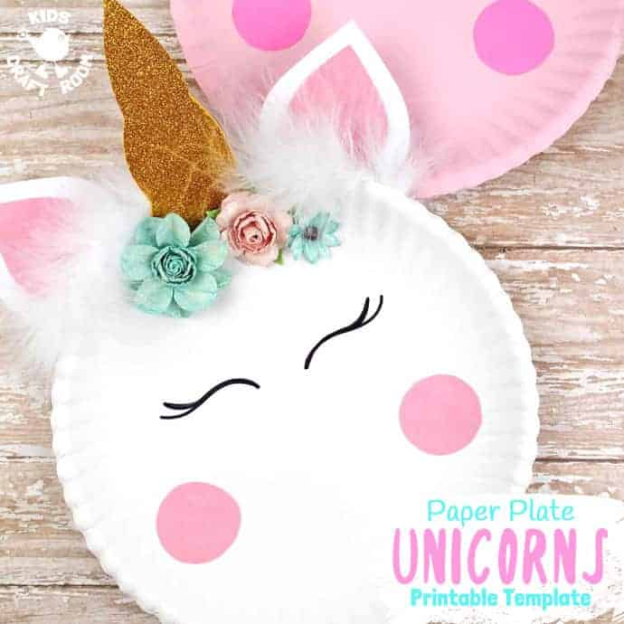 Simple Paper Plate Unicorn Craft