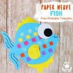 Here's a Paper Weaving Fish Craft that's perfect for Summer. These colourful fish are super fun to make and a great way to introduce kids to some simple weaving. To help keep things easy we've got a free printable template for you too. (It also doubles up as a fish colouring sheet, so you can enjoy twice the fun!) #fish #summercrafts #paperweaving #kidscrafts #kidsactivities #fishcrafts #craftsforkids #papercrafts #printables #freeprintables #weaving #kidscraftroom