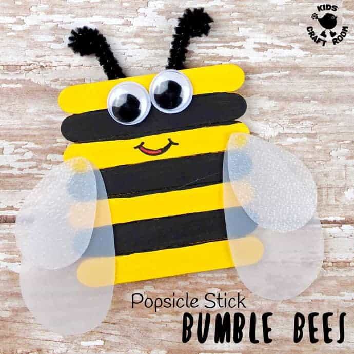 Cute Popsicle Stick Bee Craft Kids Craft Room