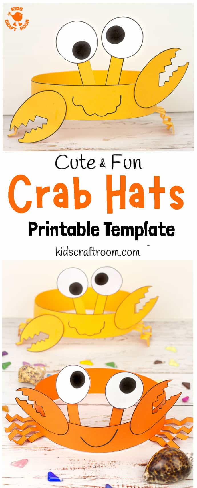Fun Crab Hats - pin 1