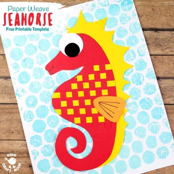 Paper Weaving Seahorse Craft square image