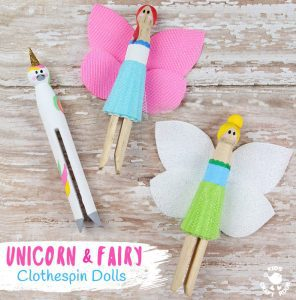 Fairy and Unicorn Clothespin Dolls