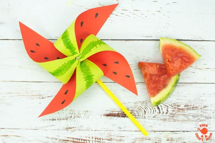 Watermelon Pinwheel Craft