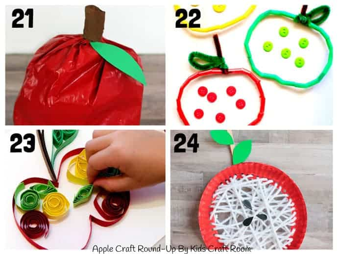 Best Apple Crafts For Kids To Make 21-24