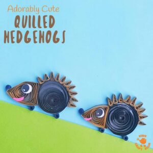 Quilled Paper Hedgehog Craft