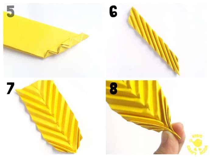 How To Make Folded Paper Leaves Kids Craft Room