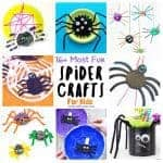 A fantastic collection of The Best Spider Crafts For Kids. Even if you're not normally a fan of real creepy crawlies these cute arachnids will have you smiling and wanting to make more! The cutest spider crafts for preschoolers on the web! Great as Halloween crafts. #spiders #spider #spidercrafts #spidercraftideas #spidercraftprojects #spideractivities #halloween #halloweencrafts #preschoolers #kidscrafts #kidscraft #craftsforkids #kidscraftroom