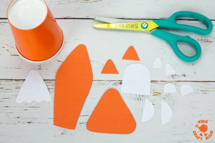 Step 1 Cute Paper Cup Fox Craft For Kids
