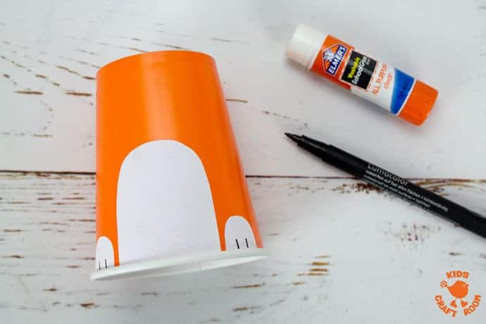 Step 3 Cute Paper Cup Fox Craft For Kids