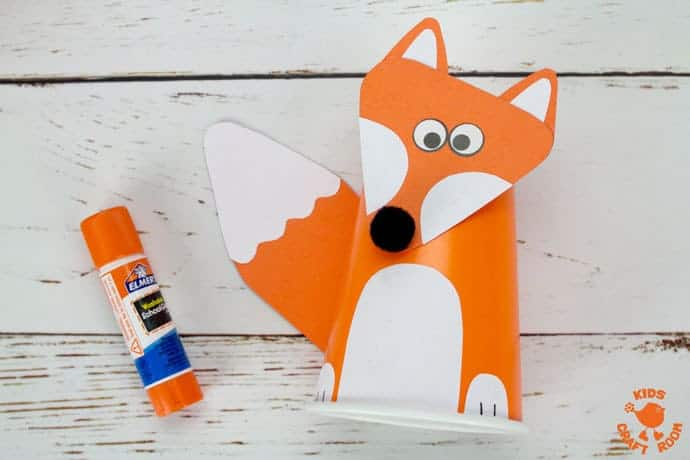 Step 5 Cute Paper Cup Fox Craft For Kids