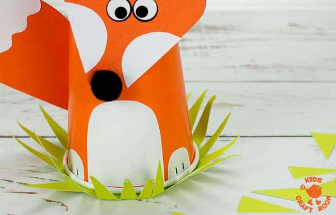 Step 7 Cute Paper Cup Fox Craft For Kids