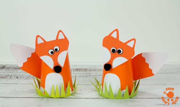 Step 8 Cute Paper Cup Fox Craft For Kids