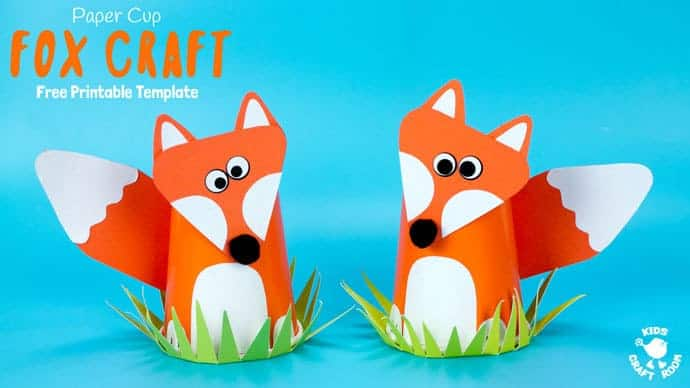 Cute Paper Cup Fox Craft For Kids Kids Craft Room