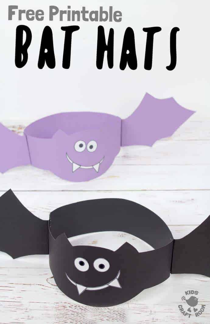 image regarding Halloween Craft Printable identify Printable Bat Hat Craft - Small children Craft Space