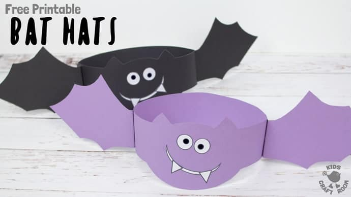 graphic relating to Printable Bat titled Printable Bat Hat Craft - Small children Craft House