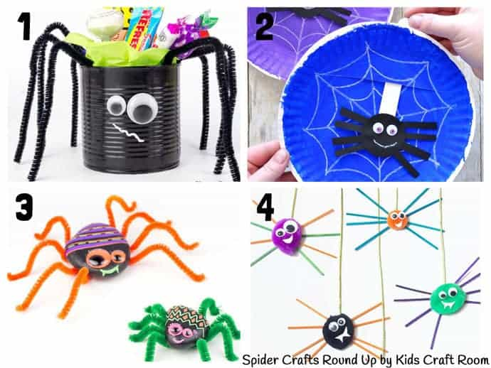 Collection Of The Best Spider Crafts For Kids 1-4