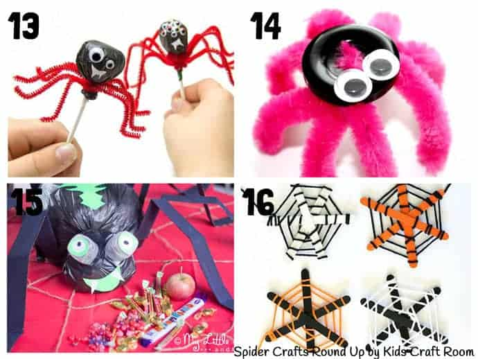 Collection Of The Best Spider Crafts For Kids 13-16