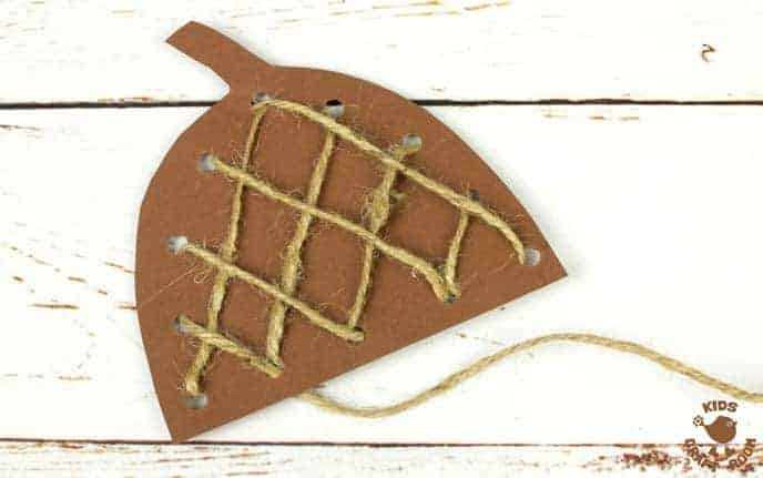 Handprint Acorn Craft - Lacing Activity Step 7