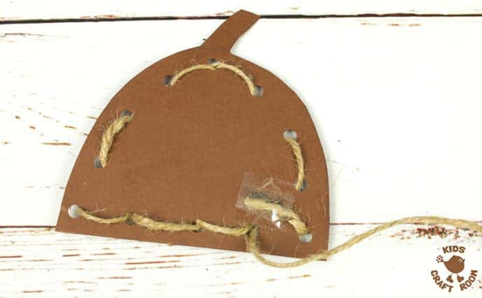 Handprint Acorn Craft - Lacing Activity Step 8