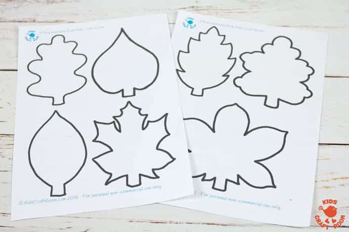 Fall Leaf Art Using Scratch Art Method step 1