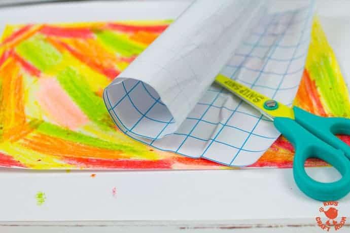 Fall Leaf Art Using Scratch Art Method step 3