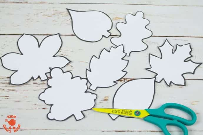 Fall Leaf Art Using Scratch Art Method step 5