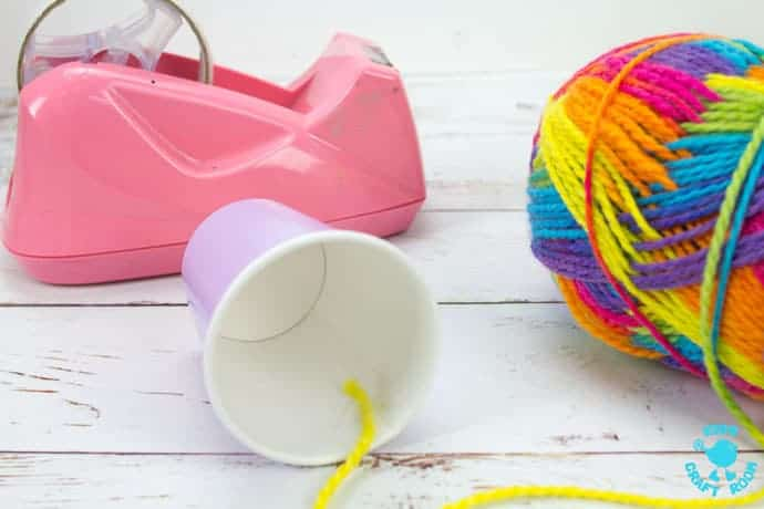 Step 1 Paper Cup Yarn Wrapped Owl Craft