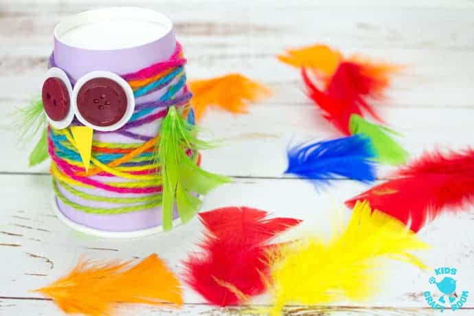 Step 4 Paper Cup Yarn wrapped Owl Craft