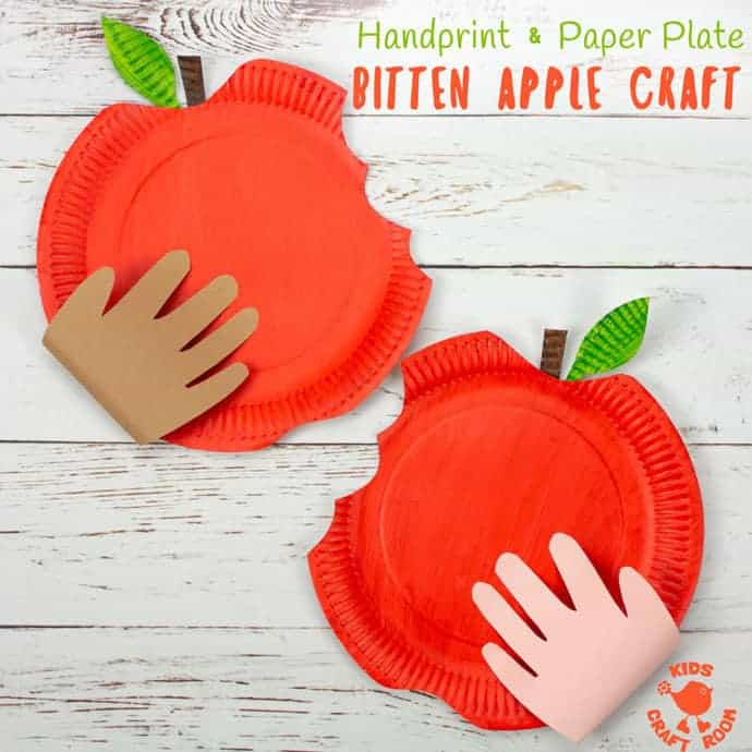 Paper Plate Bitten Apple Craft Kids Craft Room
