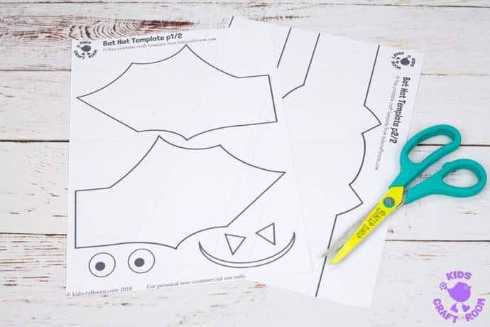 Printable Bat Hat Craft