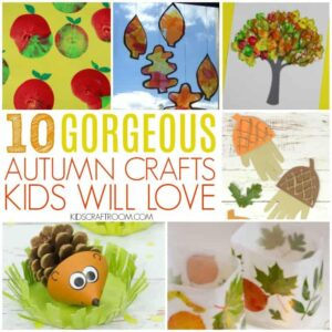Make the most of the season with these 10 Easy Autumn Crafts for Kids. Such lovely ways to inspire creativity and fun! #kidscrafts #Autumn #Fall #autumncrafts #fallcrafts #easycrafts
