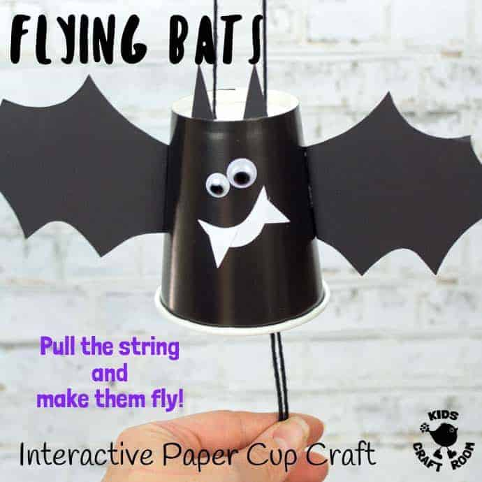 Paper Cup Flying Bat Craft
