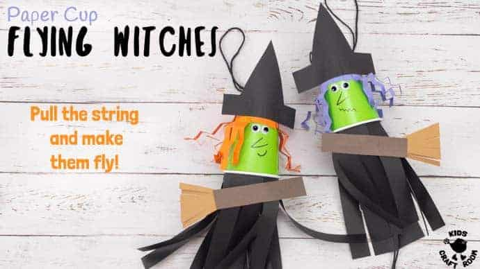 b895b5ca0f7f3 Flying Paper Cup Witch Craft For Kids - Kids Craft Room