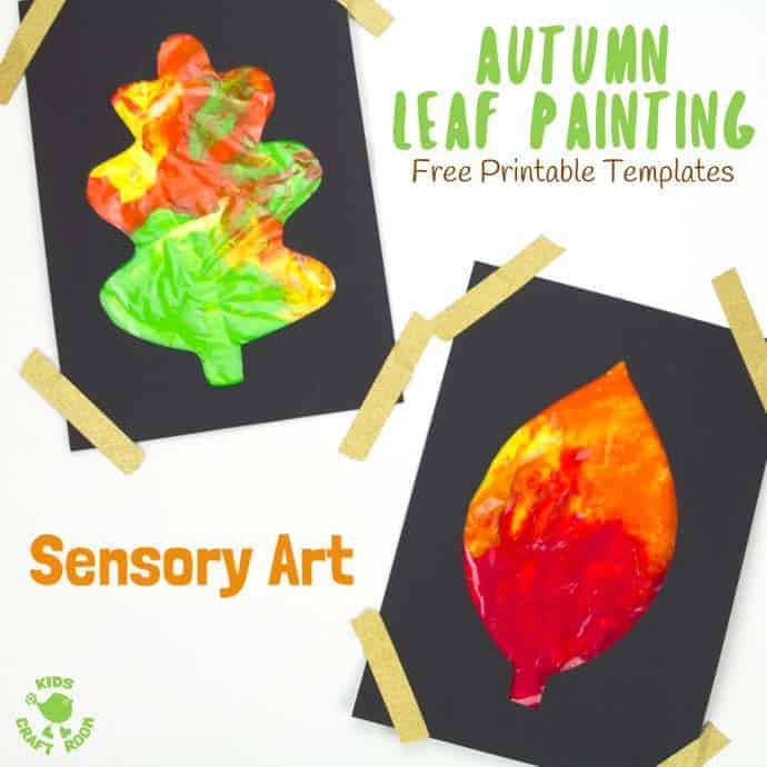 Mess Free Sensory Autumn Leaf Painting Kids Craft Room