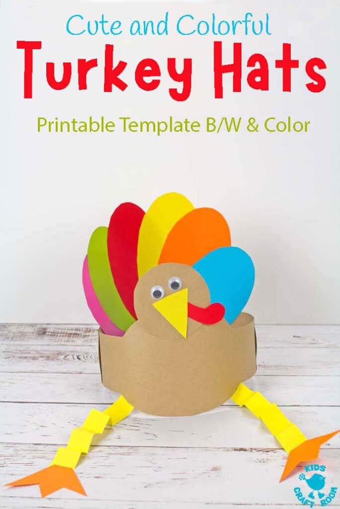 Printable Turkey Hat Craft Kids Craft Room