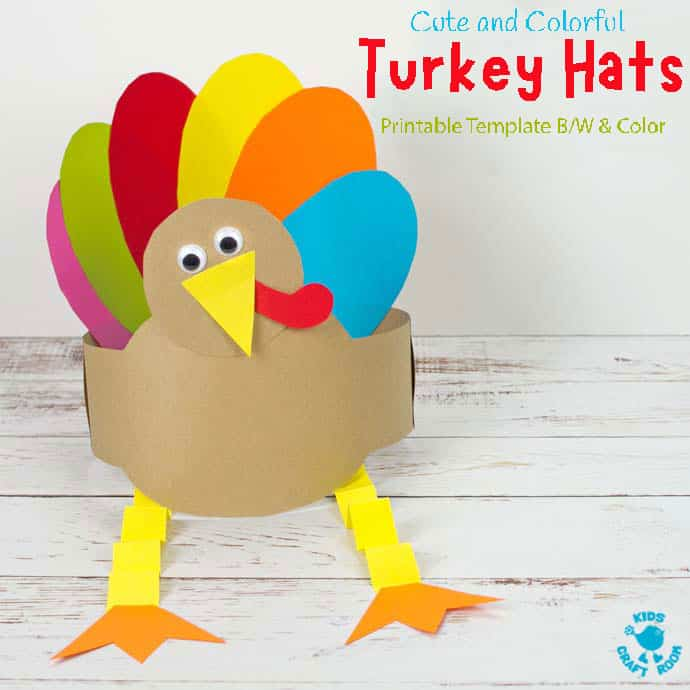 Printable Turkey Hat Craft For Thanksgiving pin image 2