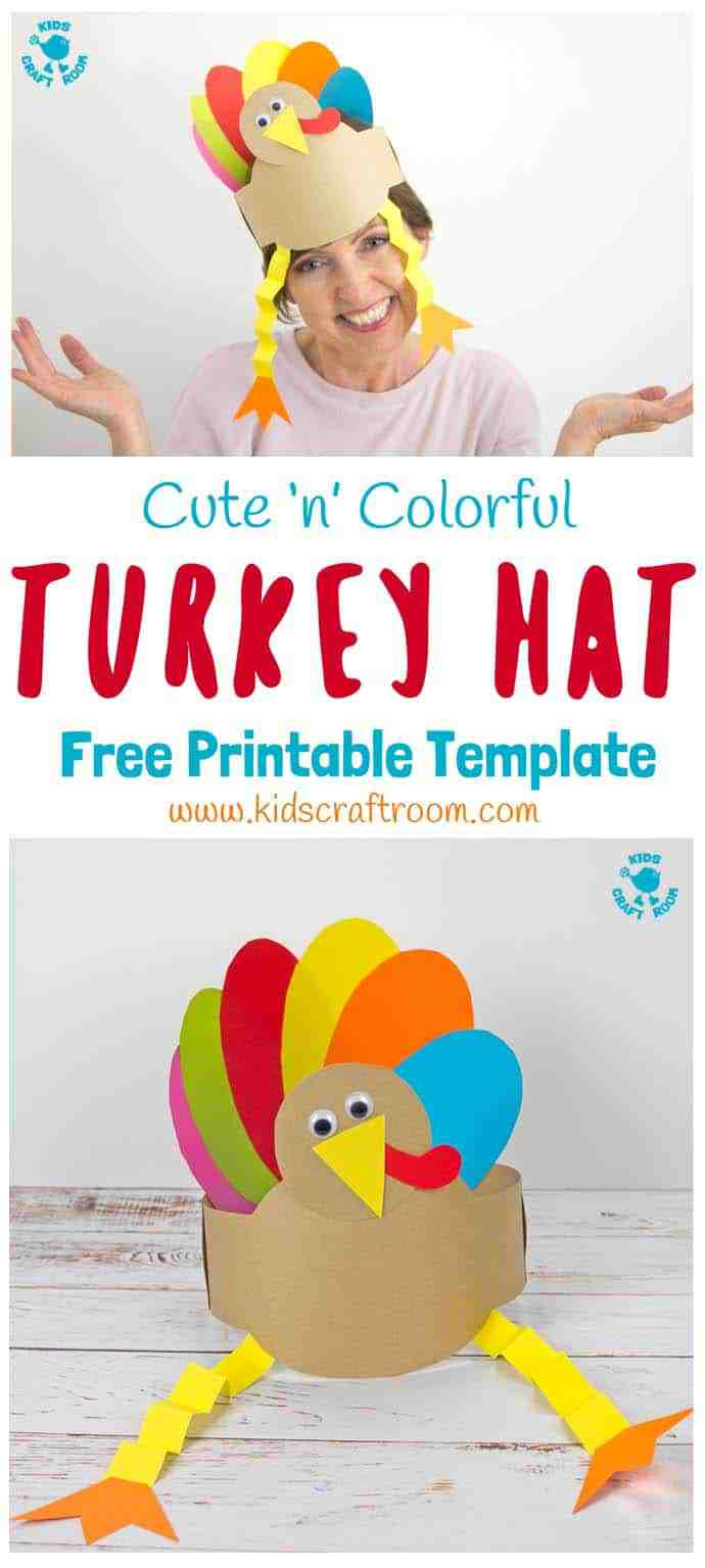 Printable Turkey Hat Craft - Kids Craft Room