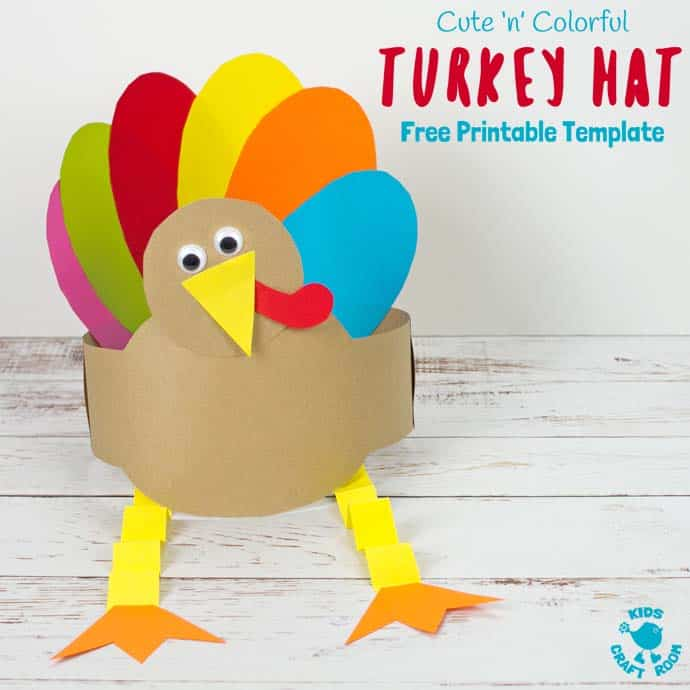 photo relating to Printable Thanksgiving Craft known as Totally free Turkey Hat Template - Young children Craft House