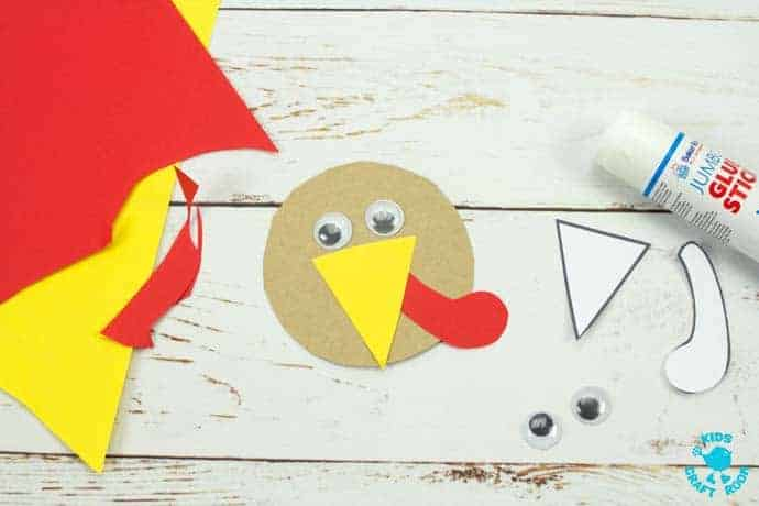 Printable Turkey Hat Craft For Thanksgiving step 6