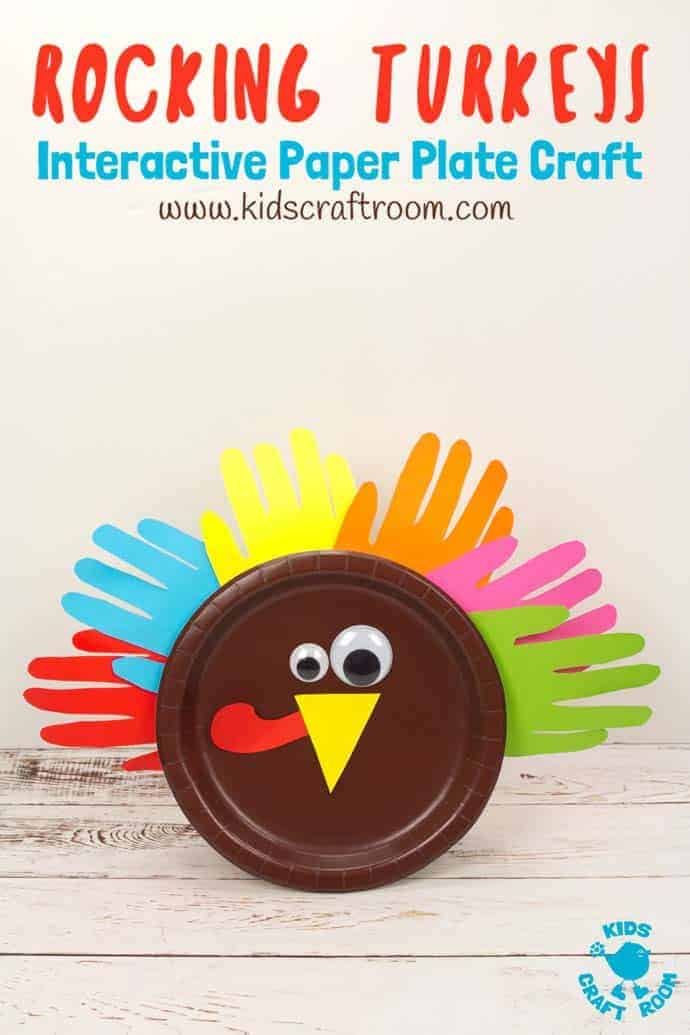Rocking Paper Plate Turkey Craft Kids Craft Room