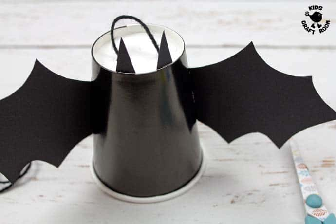 Step 5 Flying Paper Cup Bat Craft
