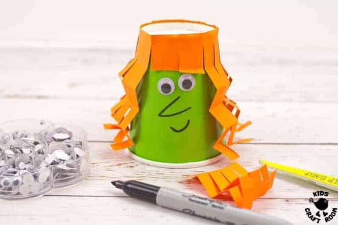 Step 5 Flying Paper Cup Witch Craft For Kids