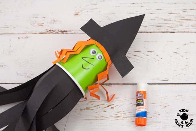 Step 9 Flying Paper Cup Witch Craft For Kids